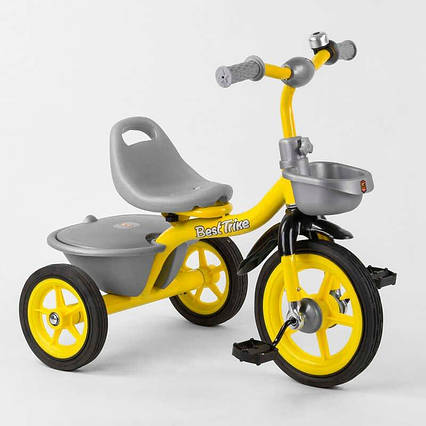 """Велосипед 3-х колёсный BS-9603 """"Best Trike"""" (1) резиновые колеса, переднее d=10'', заднее d=8'', звоночек, 2"""
