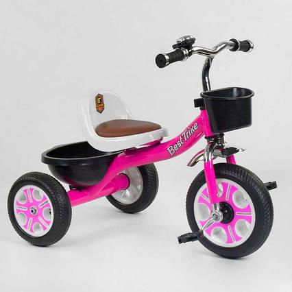 """Велосипед 3-х колёсный LM-2806 """"Best Trike"""" (1) РОЗОВЫЙ, пено колесо, металлическая рама, звоночек, 2 корзины,"""