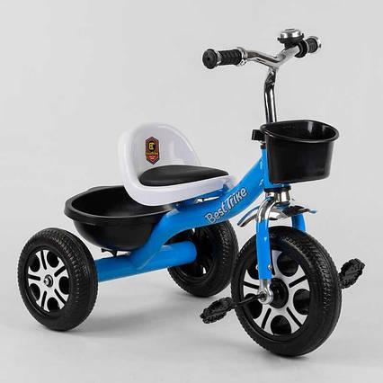 """Велосипед 3-х колёсный LM-4405 """"Best Trike"""" (1) ГОЛУБОЙ, пено колесо, метал. рама, звоночек, 2 корзины,"""