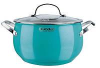 Кастрюля Rondell Turquoise 5.8 л, 24 см крышка RDS-719