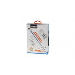 Универсальная зарядка от прикуривателя и розетки Ldino, совместим с iPhone 5,5C,5S,6, iPad,iPad mini