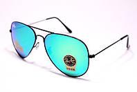 Очки солнцезащитные Ray Ban Авиатор капли стекло  голубое зеркало