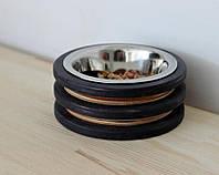 КІТ-ПЕС by smartwood Миска на підставці | Миска-годівниця металева для кішок котів кошенят - 1 миска 200 мл, фото 1