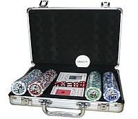 Покерний набір в алюмінієвому кейсі на 200 фішок номіналом №200N