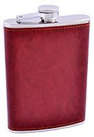 Фляга з неіржавіючої сталі (Шкіра) №FS-9 Brown