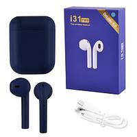 Бездротові bluetooth-навушники i31 5.0 з кейсом, dark blue