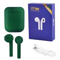 Бездротові bluetooth-навушники i31 5.0 з кейсом, green