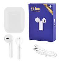 Бездротові bluetooth-навушники i31 5.0 з кейсом, white