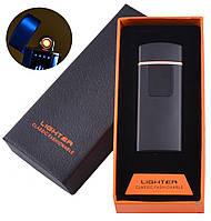 USB запальничка в подарунковій коробці LIGHTER (Спіраль розжарювання) №HL-132 Black