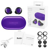 Бездротові bluetooth-навушники Samsung Galaxy нирки золото+ з кейсом, purple