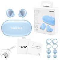 Беспроводные bluetooth-наушники Samsung Galaxy Buds+ с кейсом, blue