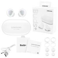 Беспроводные bluetooth-наушники Samsung Galaxy Buds+ с кейсом, white