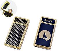 USB запальничка Вовк (Спіраль розжарювання) №HL-140-2
