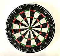 Дартс турнирный професиональный (мишень 45 см.) с металлической сеткой и 6 латунными дротиками, фото 1