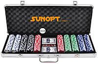 Покерний набір в алюмінієвому кейсі на 500 фішок (62x21x8 см) №500