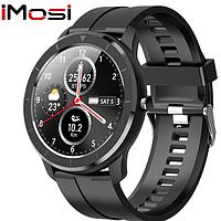 Мужские сенсорные наручные умные смарт часы Smart Watch Н67-35 фитнес браслет трекер Черные. Розумний годинник