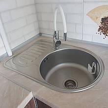 Кухонная мойка стальная Platinum 6745 Satin 0,8мм матовая