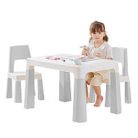 Столик детский и стульчики Bestbaby BS-8817 Gray игровой стол для детского сада дома рисования