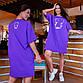 """Жіноче літнє плаття у великих розмірах 630 """"Ведмедик"""" в кольорах, фото 4"""