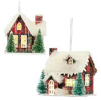 Домик красный в снегу Goodwill