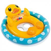 Детский Круг-плотик для плавания 59570, 4 вида (Уточка)