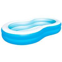 """Детский надувной бассейн """"Голубая лагуна"""" BW 54117, 262-157-46 см"""