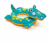 Детский надувной круг Зверюшки 58221, 3 вида ( 58221-2 (Крокодил))
