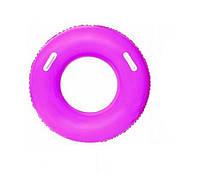 Детский надувной круг BestWay 36084 флуоресцентный (Розовый)