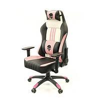 Крісло АКЛАС Мідж PL RL Чорно-рожево-біле, фото 1
