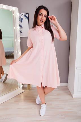Жіноча літня сукня-сорочка батал, 50-52, фото 2