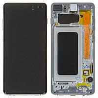 Дисплей для Samsung G975 Galaxy S10 Plus, зелений, з сенсорним екраном, з рамкою, оригінал (PRC), Prism Green,