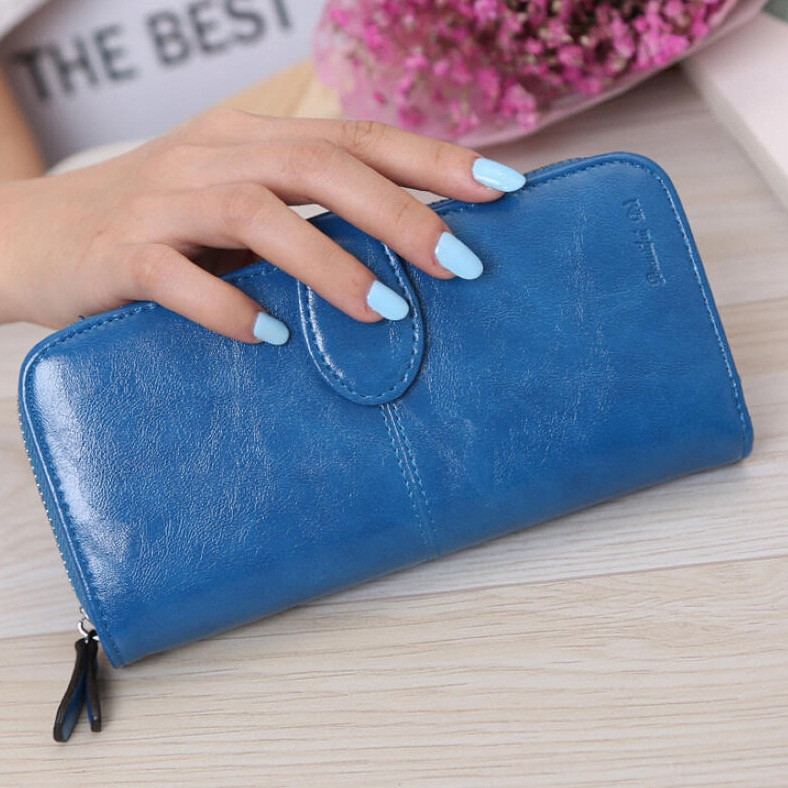 Синий женский портмоне Baellery