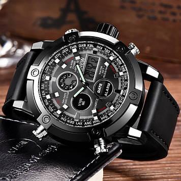Армейские мужские часы черные
