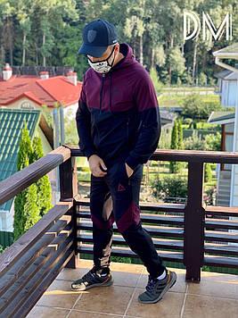 Модный мужской спортивный костюм бордовый качественный Reebok копия. Мужские спортивные штаны олимпийка осень