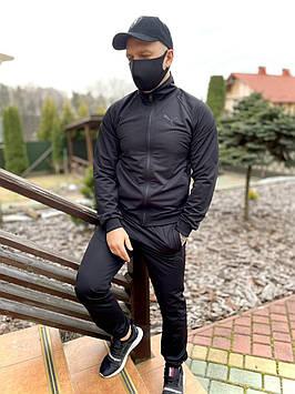 Спортивный костюм мужской Puma реплика, качественный костюм для мужчины весенний осенний летний пума черный