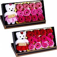 Подарочный набор мыла из роз Rose Bear, парфюмированное сувенирное мыло SKL11-283031