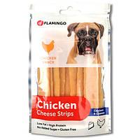 Flamingo Chicken Snack Cheese Strips ФЛАМІНГО ЧІКЕН ЧІЗ СТРИПС смужки з сиром, ласощі для собак