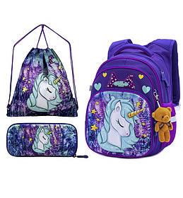 Рюкзак школьный для девочек Winner One R3-241 Full Set