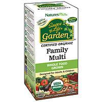 Органические мультивитамины для всей семьи Natures Plus Source of Life Garden Вкус Ягод 60 таблет, КОД: