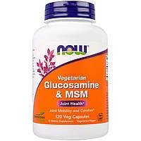 Глюкозамин МСМ Now Foods 120 гелевых капсул NF3130, КОД: 1826770