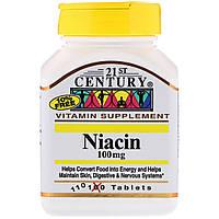 Ниацин 21st Century 100 мг 110 таблеток CEN21364, КОД: 1724839