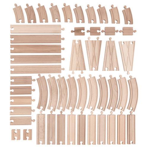 Залізниця IKEA Lillabo додаткові елементи 50 шт з дерева Польща