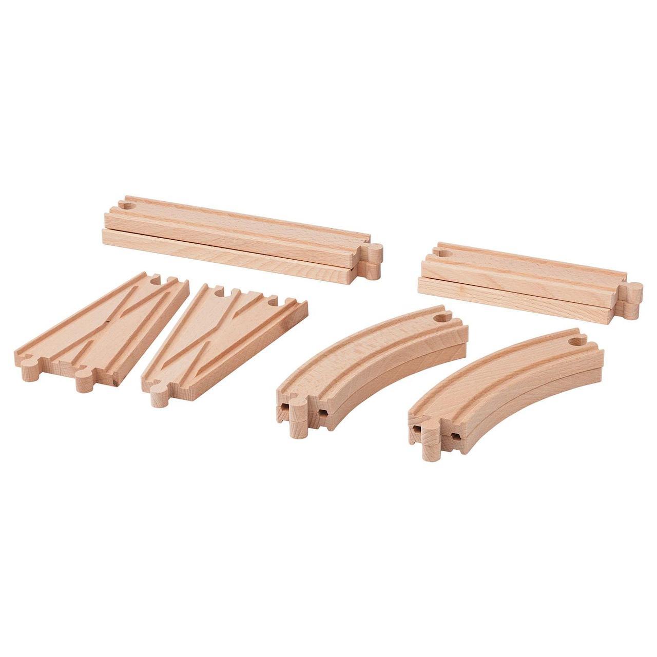 Железная дорога IKEA Lillabo дополнительные элементы 10 шт с дерева Польша