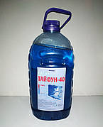 Охлаждающая жидкость Тосол Тайфун-40 (-24) 5л (4кг) синяя (ПЭТ). Жидкость для охлаждения Тосол Тайфун-40.