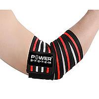 Локтевые бинты Power System Elbow Wraps PS-3600 Red/Black