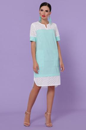 Сукня жіноча льон лляне з обробкою з хпопка з накладними карманами44 46 48 50 Р