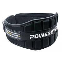 Неопреновий пояс для важкої атлетики Power System Neo Power PS-3230 Black/Yellow S