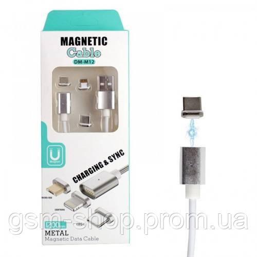 Магнітний кабель Lightning Usb DM-M12