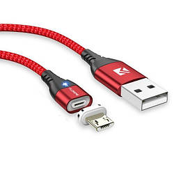 Магнитный кабель для зарядки и передачи данных Floveme micro USB 1 метр красный