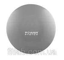 М'яч для фітнесу і гімнастики Power System PS-4018 85 cm Grey